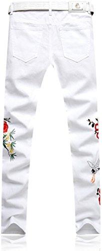 jeansian Herrenmode Casual Pants Jeans-Hose J229 MJB117_White