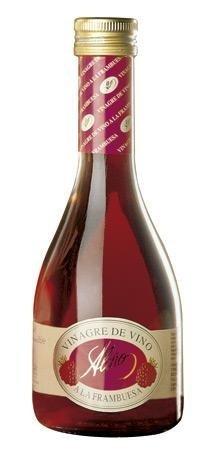 Vinagre de Frambuesa Gourmet - 250 ml - Vinagre de España de Alta Calidad, Envejecido en Barrica de Roble - Gran Variedad de Ricos Sabores y Aromas Intensos - El Resultado de una Tradición de 50 Años.