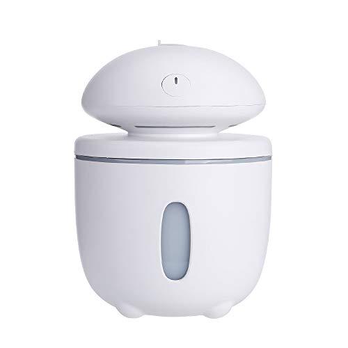 Luftbefeuchter | USB LED Ultraschall Pilzform Luftbefeuchter Essential Aroma Oil Diffuser Atomi | Raumbefeuchter für Wohn- und Schlafzimmer, Yoga Salon Spa, Schlaf-, Bade- oder Kinderzimmer
