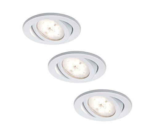 Satin Chrom 3 Licht (Nice Price 3892 LED Einbauleuchte incl. 3x3W 230V warmweiß, Chrom matt)