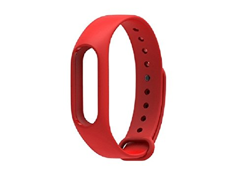 SAFESEED Silicone Wristband Cover Case for Xiaomi Mi Band  Red