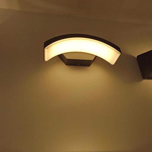 Moderne LED-Wandleuchte 2 Außenbeleuchtung Wasserdicht IP65 Aluminium Garten Garten Korridor Veranda Licht AC85-265V @ Dark Grey_24W_Cool White (5500-7000K) (Cool Grey 11 Retro)
