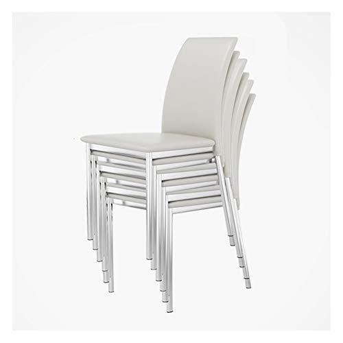 Sillas de Comedor Las sillas apilables de Metal Sillas de Comedor Silla de Oficina de apilamiento de Las oficinas, de...