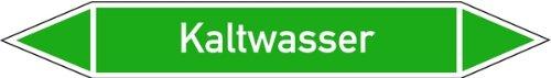 LEMAX Rohrleitungskennzeichen Kaltwasser Folie selbstklebend 15 x 100 mm (Leitungskennzeichnung, Sicherheitshinweis) wetterfest