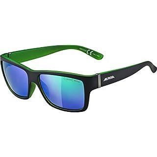 Alpina Sonnenbrille Sport Style Kacey, Black matt-Green, One Size