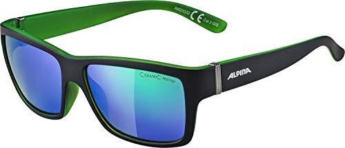 Alpina Sonnenbrille Sport Style KACEY black matt-green, One Size