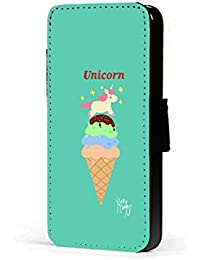 Colorful Unicorn se, Fan Art funda de piel sintética para teléfono móvil funda con tapa para iPhone 45C 6s A3A5J3J5S7S6S5S4S3M8M9G4G3 Samsung Galaxy J5 J530 2017