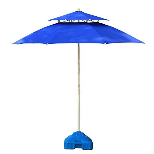 Sonnenschirme Gartenschirm Blauer Doppelter Spitzenpatio-Regenschirm-Yard, Vervollkommnen Für Garten Im Freien, Strand-Handelsereignis-Markt, Kampieren, Pool-Seite (Markt Sonnenschirm Blau)