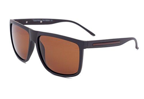 Polarisierte Sonnenbrille des Grey Wolf für Männer, die Fischen Sport hellbraune Linsen mit Brown Plastikrahmen fahren kein Blendschutz UV400 Strahlen