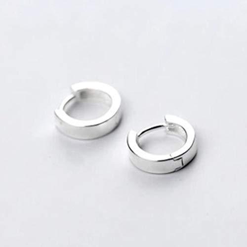 Lightpurple Einfache runde Ohrringe aus 925er Silber (Color : Sliver) (Avery-silber-schmuck James)