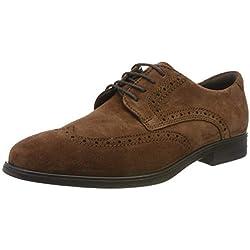 Ecco Melbourne, Zapatos de Cordones Brogue para Hombre, Marrón (Brandy 5280), 43 EU