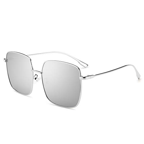469cb255d7 AMZTM Gafas de Sol Moda para Mujer Polarizadas Lente de Protección UV  Grande Gafas con Marco