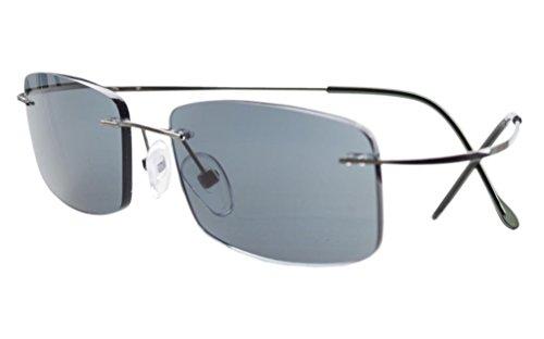 Eyekepper Titan randlose Sonnenbrille fuer Frauen Maenner +2.75