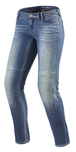 REV\'IT! Motorrad Jeans Motorradhose Motorradjeans Westwood SF Damen Jeanshose hellblau Used 28/32, Chopper/Cruiser, Ganzjährig, Textil