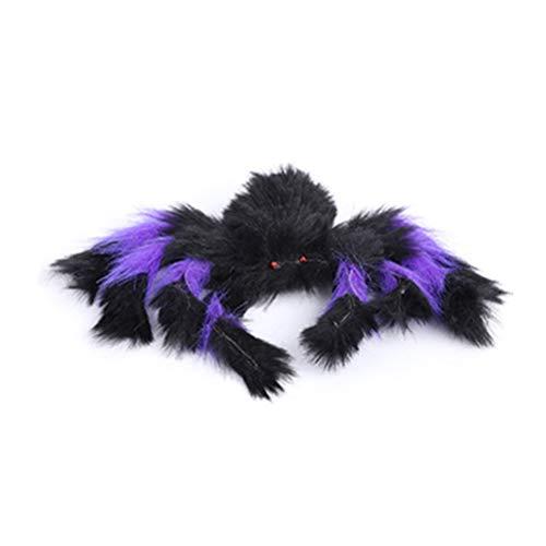 jeeri Halloween-Spinnen Nähte Farbe Groß Haarige bewegliche Spinne Halloween-Spinne im Freien Halloween-Dekorationen für Draussen Party-Dekor Fenster