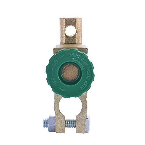 Elviray Interruptor de enlace de terminal de batería de cobre de aleación de zinc Professional Interruptor de Corte de desconexión rápida Interruptor aislante Accesorios para EL automóvil