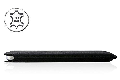"WIIUKA Echt Leder Tasche Apple iPhone 7 Plus und iPhone 6S Plus und iPhone 6 Plus (5.5"") Schwarz / Grün extra Dünn Schwarz / Grün"