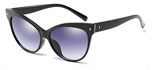 Zokra (TM Sonnenbrille Frauen-Katzenaugen-Rahmen Luxuxmarken Sonnenbrillen Sunnies Shades 6 Farben Classic Retro Lady Sunglass Oculos de grau [Schwarz Grau]