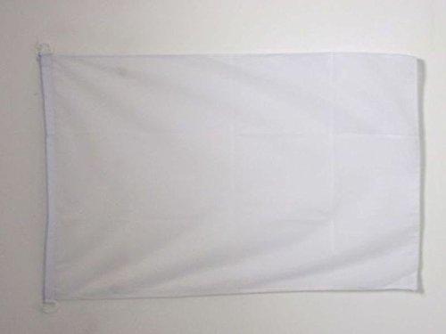 AZ FLAG BOOTFLAGGE Einfarbig Weiss 45x30cm - Einfarbig BOOTSFAHNE 30 x 45 cm Marine Flaggen Top Qualität