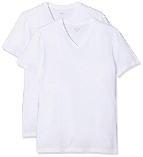 JOOP! Herren T-Shirt, Einfarbig, Gr. Large, Weiß (White Uni 100)