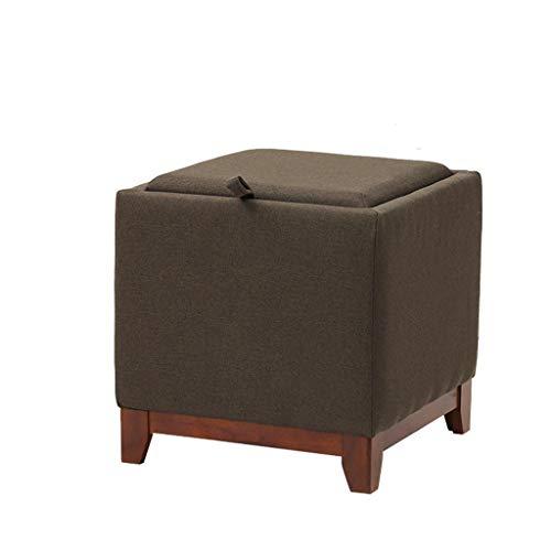 KKCD - Pouf Hocker Hocker Ottomane Aufbewahrungskiste Mode Pouffes Sofa Pouffes Sitz Home Change Schuh Bank, Kleine Tee-Tablett/Nachttisch Sitzhocker (Color : A)