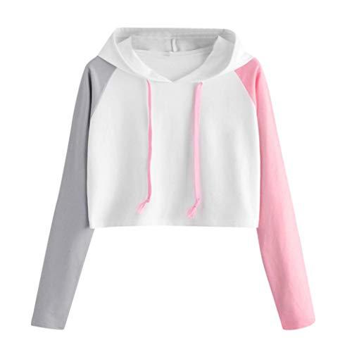 Felicove Frauen Casual Langarm Hoodie Sweatshirt mit Kapuze Pullover Tops Bluse