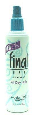 Final Net Laque capillaire - Tenue normale - Non parfumée - Vaporisateur de 240 ml