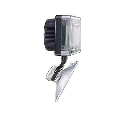 JZK Tauchfähig Digital Aquarium Thermometer mit Alarm Saugnapf Batterie, LCD-Display für Terrarium, Aquarium und Vivarium