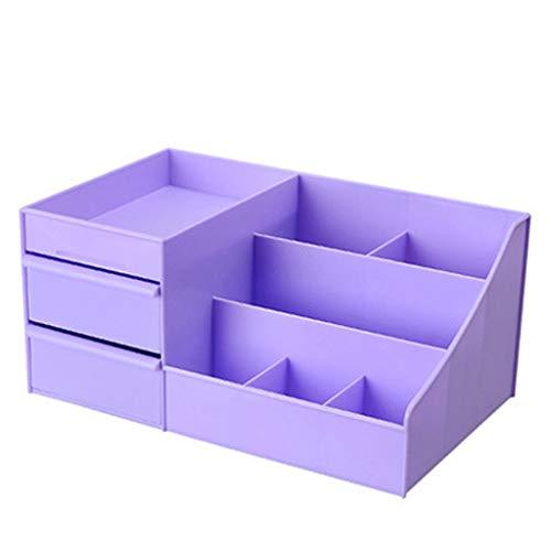 KKY-ENTER Boîte de rangement de type cosmétique de tiroir en plastique de bureau Rouge à lèvres (Couleur : Purple)