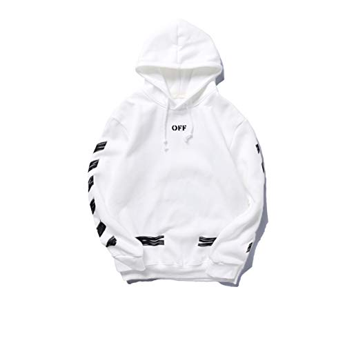 Hot Street Trendy Fashion hip pop Off Graffiti Sketch Plus Velvet Hood Long Sleeve Sweatshirt Pullover Men Women Boys Girls Couple Sleeve Hoodie