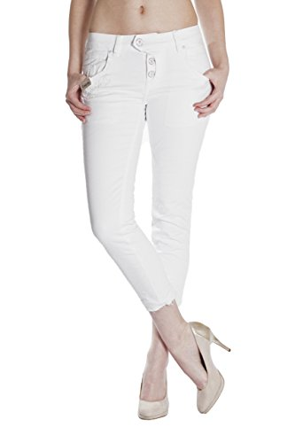 Blue Monkey Jeans Grey//Silver Shining BM-3752 Manie Damen