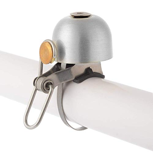 ROCKBROS Radsport Fahrrad Handklingel Fahrradklingel Horn Retro Bell (Silber) - 4