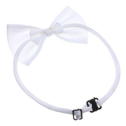 TOOGOO (R) Hunde Katzen Haustier Fliege krawatte Halsschmuck Halsband Hundefliege Hundekrawatte dog Pet tie Necktie wei?