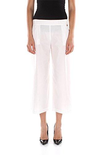 Pantaloni Twin-Set Donna Cotone Bianco S5TT2S54700001 Bianco XS