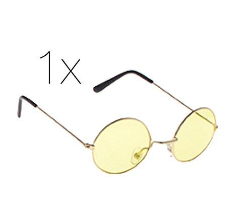 Hippiebrille Sonnenbrille Brille Kostüm rund wie John Lennon -