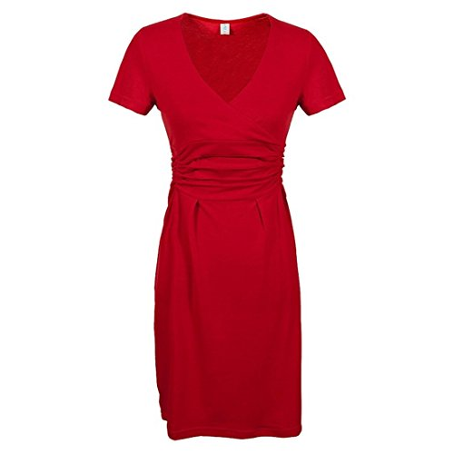 KingField - Robe - Crayon - Manches Courtes - Femme Rouge