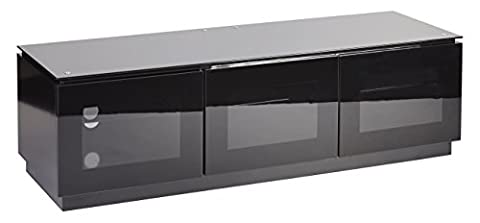 "Premium Universal TV Cabinet| Elegant Black Finish| Perfect For LED, LCD, PLASMA, 4K, Flat Screen TVs| Up To 70"" Inches Capacity