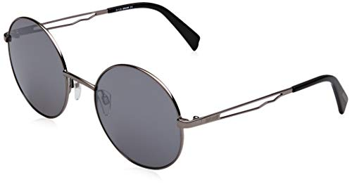 Just Cavalli Damen JC840S Sonnenbrille, Grau (Shiny Gumetal/Smoke Mirror), 54