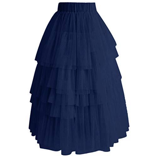 hichtige Tüllrock Vintage Bunte Tutu Petticoat Ballkleid Rock Cupcake Rock ()