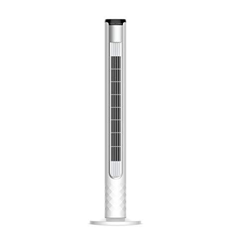 Preisvergleich Produktbild LIYFF-Kühlung Klimaanlage Ventilator Swing Tower Cooling Silent Fan mit Fernbedienung und 8-Stunden-Timing für Zuhause und Büro - Weiß (H 105 x B 25 x T 25 cm)