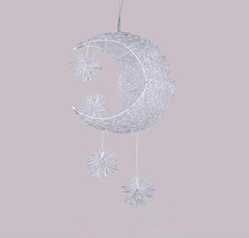 WModern exquisite Moon Shade Aluminium Draht Material Sterne Anhänger Kronleuchter kreative einzigartige Design künstlerischen Stil Kinderzimmer 40cm LED Metall Eisen.