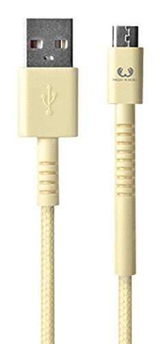 Fresh 'n Rebel Fabriq Micro-USB Cable 3m - Buttercup - Cargador (Auto, Interior, Universal, USB, Contacto, Camuflaje, 3 m)