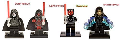 Star Wars Sith Lords Kylo Ren Darth Malgus Darth Revan Darth Vader Rogue One Minifigures Mini-Figs ...