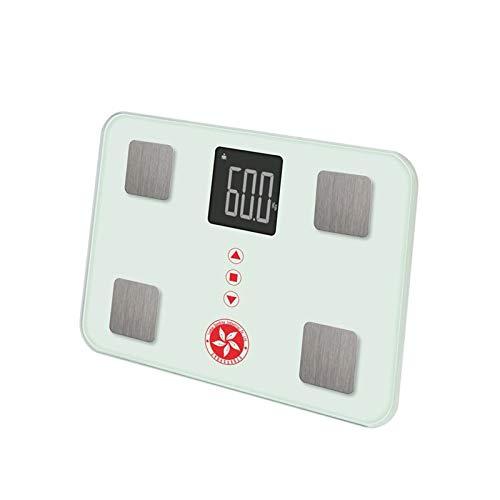 SKJDK Personenwaagen Körperfettwaage, Gesundheitsmessungen Digitales Badezimmer-gewichtsmessgerät Mit LCD-anzeige Und Gehärteter Glasoberfläche Für Frauen Und Kinder, 150kg / 330lb -