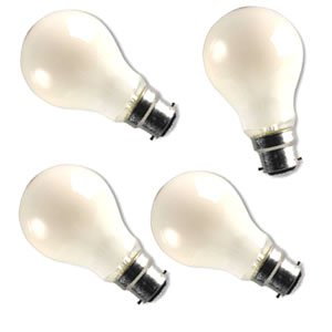 4 x 100w BC Bayonet cap Pearl Lightbulb GLS lamps Bulbs lightbulbs