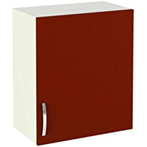 Meka-Block K-1404-BU - Módulo alto de cocina para colgar con una puerta, color burdeos