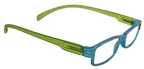 Lesebrille LONG blau/grün, 2.0 - Hals-bügel