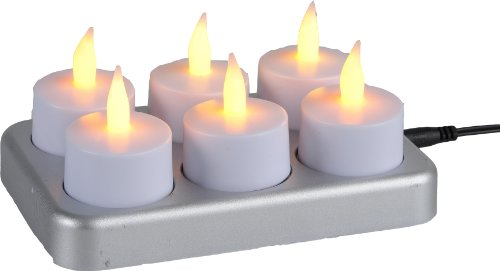 Best Season 066-18 T-Light Lumini a LED con luce tremolante, 6 pezzi