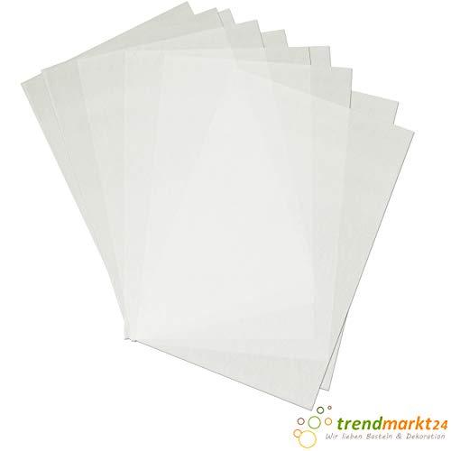trendmarkt24 Schrumpffolien-Platten Transparent, mattiert im 10er Pack Plastikfolie 20x30 cm Bastelfolie Zum Bemalen mit Faser- und Buntstiften Folie Zum Erhitzen 71051900 -