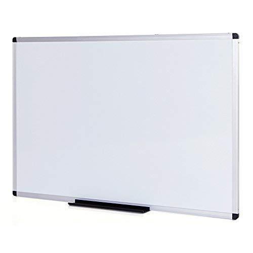 VIZ-PRO Pizarra blanca magnética marco aluminio